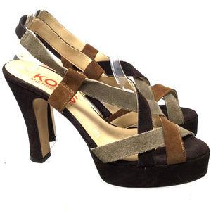 Michael Kors Women's Sandals Size Us 7M Brown Heel
